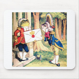 Invitation from the Queen of Hearts in Wonderland Mouse Pad