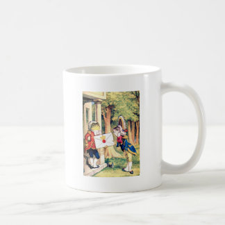 Invitation From the Queen of Hearts in Wonderland Mugs
