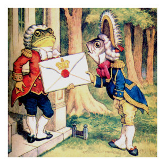 Invitation from the Queen of Hearts in Wonderland Poster