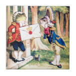 Invitation From the Queen of Hearts in Wonderland Small Square Tile