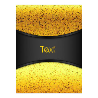 Invitation Glitter Graphic Gold