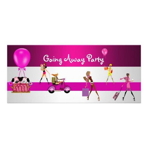 Invitation Going Away Party Girls Bike Luggage Fun 4 X 9
