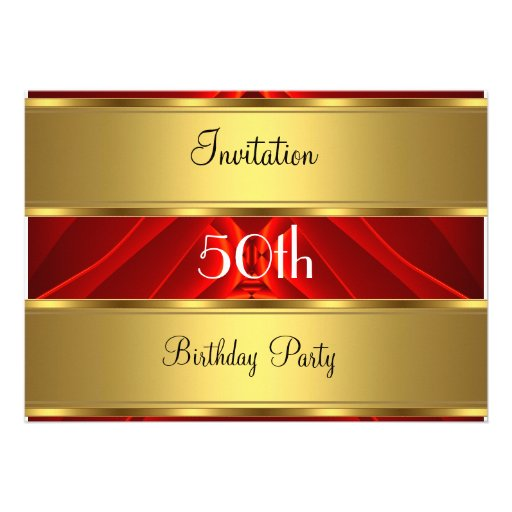 Invitation Gold 50th Birthday Party