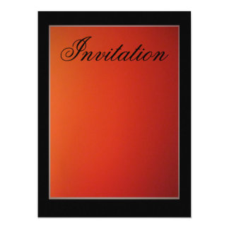 Invitation - Gradient Orange-Red