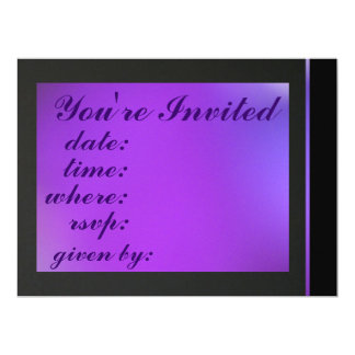 Invitation - Gradient Purple  - Multipurpose Card