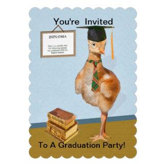 Invitation Graduation Party Baby Bird Humor