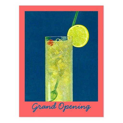INVITATION GRAND OPENING ~ HAPPY HOUR POSTCARD