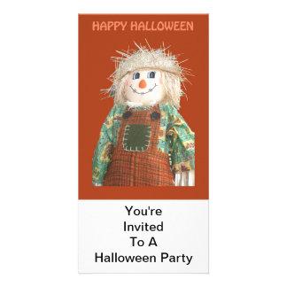 Invitation, Halloween Party, DScarecrow Photo Card