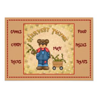 invitation...harvest time 2 5x7 paper invitation card