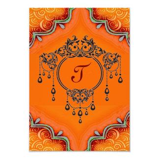 """Invitation*henna Invitación 3.5"""" X 5"""""""