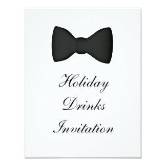 Invitation Holiday Drinks Formal Black Tie
