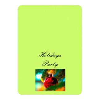 """Invitation """"Holidays Party"""" 5"""" X 7"""" Invitation Card"""