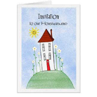 invitation housewarming greeting card