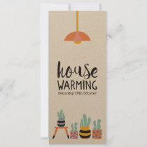Invitation Housewarming Party Cactus Illustrations