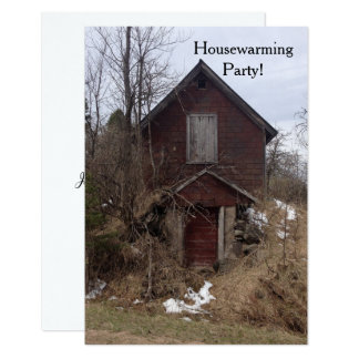 Invitation Housewarming Party fun rustic old home