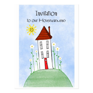 invitation housewarming postcard