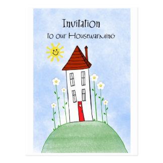 invitation housewarming postcard