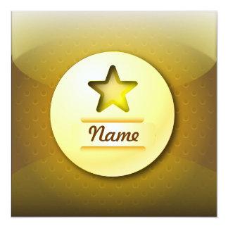 Invitation icon gold star