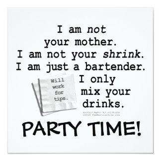 Invitation, Invitations - I'M A BARTENDER