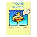 "Invitation - Just DUCKY Thanks 5"" X 7"" Invitation Card"