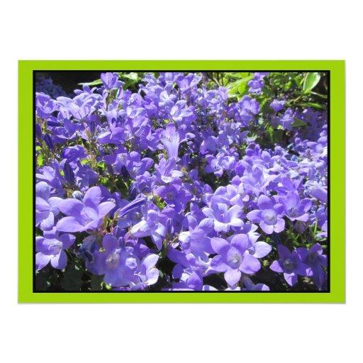 Invitation - Light Blue Flowers