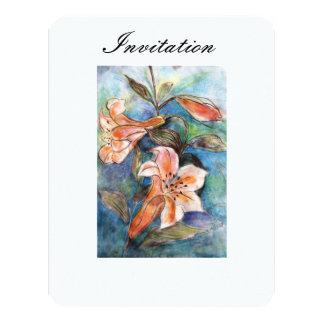 """Invitation """"Lily"""" 4.25"""" X 5.5"""" Invitation Card"""