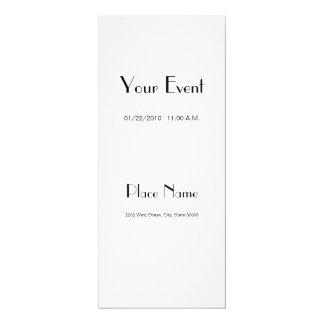 """Invitation Linen Paper/ White Color 4x9.25 4"""" X 9.25"""" Invitation Card"""