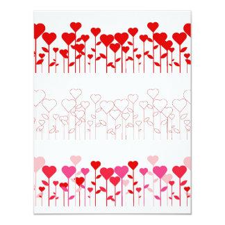 Invitation--Lots of Hearts Card