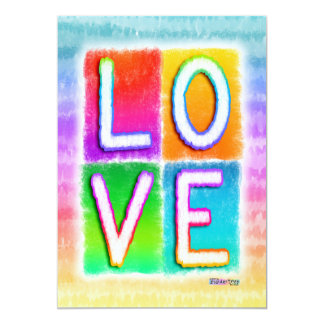 Invitation - LOVE Pop Art
