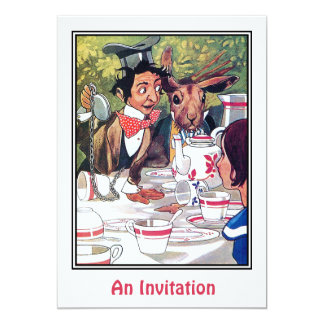Invitation: Mad Hatter's Tea Party Card