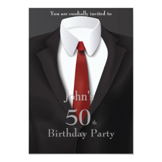 Invitation Man,50,60,any age,tuxedo,suit,tie,black