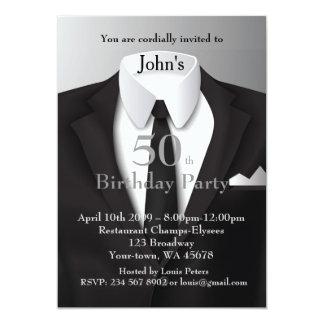 Invitation Man, any age,tuxedo, suit, tie, black
