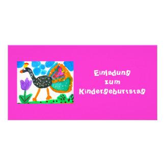 Invitation map child birthday photo card