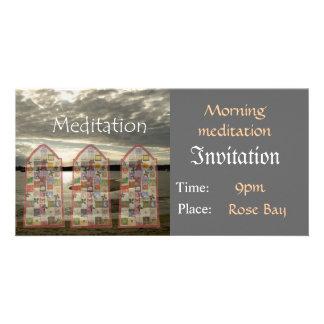 Invitation Meditation Template Photo Card