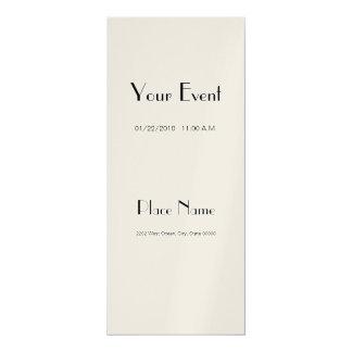 """Invitation Metallic Paper/ Champagne 4x9.25 4"""" X 9.25"""" Invitation Card"""