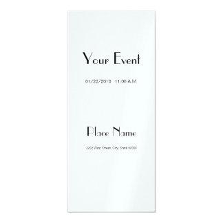 """Invitation Metallic Paper/ Ice Color 4x9.25 4"""" X 9.25"""" Invitation Card"""