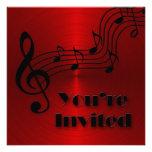 Invitation - Musical -Notes Personalized Invitation