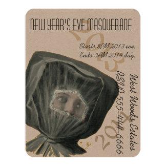 "Invitation New Year Masquerade Party 4.25"" X 5.5"" Invitation Card"