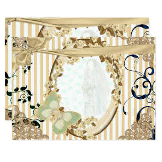 Invitation of wedding old mirror toasted color
