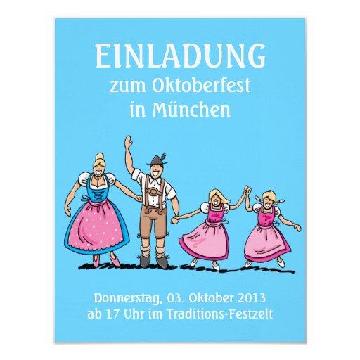 Invitation Oktoberfest Happy Family