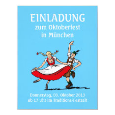 Invitation Oktoberfest Munich Dancing Couple at Zazzle