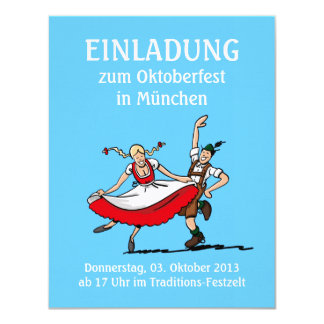 Invitation Oktoberfest Munich Dancing Couple