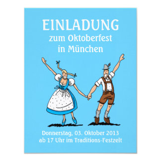 Invitation Oktoberfest Munich Happy Couple