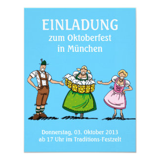 Invitation Oktoberfest Welcome Beer Waitress