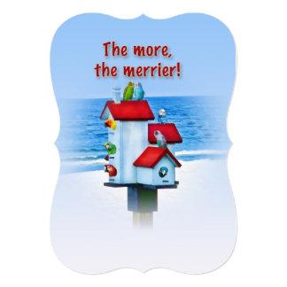 Invitation, Open House, Birds and Bird House Card