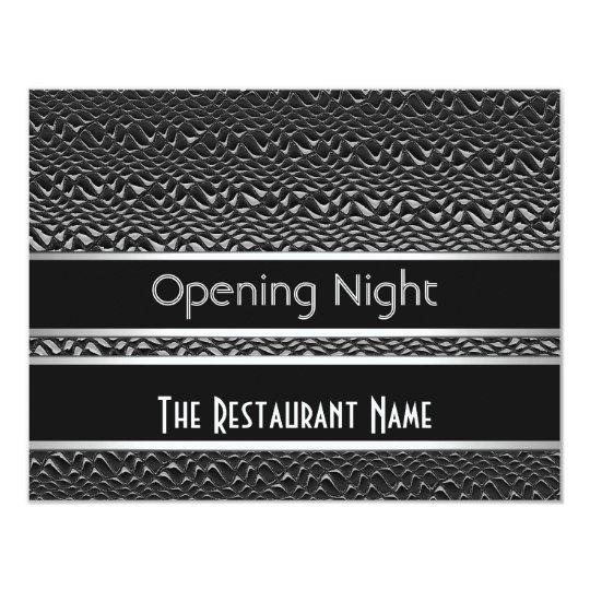 Invitation Opening Night Black Silver Metal