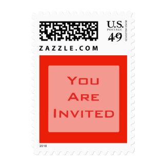 Invitation orange color stamp