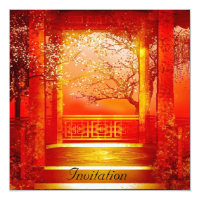 Invitation Oriental Red Gold