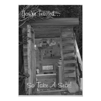 "Invitation - OUTHOUSE ""Take A Seat"""