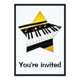 Invitation: Piano Recital with Star Card